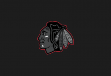 Blackhawks Black Wallpaper