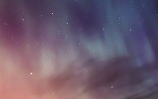 Sky Aurora Iphone Stars Wallpaper