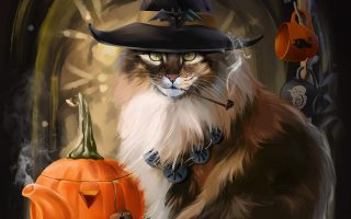 Cat Wallpaper For Halloween 3D