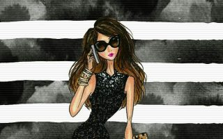 Chic Fashionista Wallpaper Iphone Girly