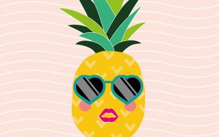 Cute Girly Pineapple Sunglasses Wallpaper Iphone