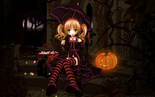 Cute Halloween Anime Wallpaper HD