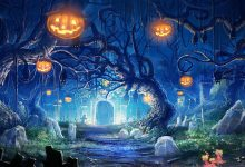 Fantasy Forest Halloween Wallpaper