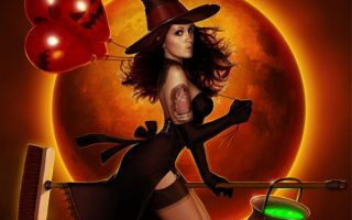 Fantasy Halloween Witch Wallpaper HD