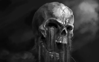 HD Wallpaper Dark Skull