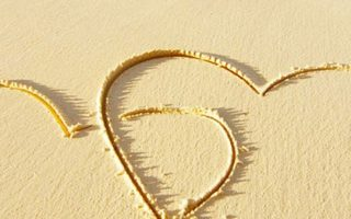 Romantic Beach Sand Wallpaper iPhone