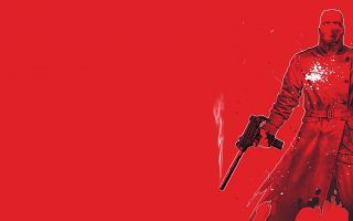 Red Gun Background Wallpaper