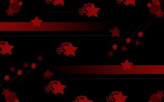 Red and Black Stars Wallpaper