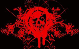 Skull Red Wallpaper HD