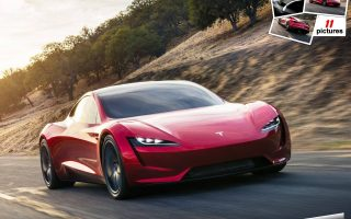 Wallpaper HD Tesla Roadster 2020